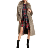 On Second Thought: Plaid Asymmetric Hem Notch Collar Full Sleeve Dress