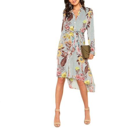 On Second Thought: Floral Belted Dress