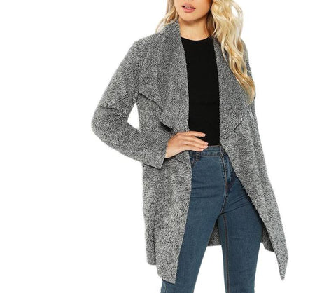 On Second Thought: Grey Knee Length Sweater Coat