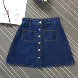 On Second Thought: Denim A-Line Skirt