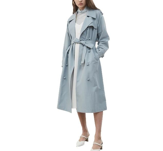 Powder Blue Trench Coat