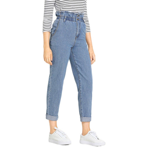 On Second Thought: High Waist Frill Mom Jeans