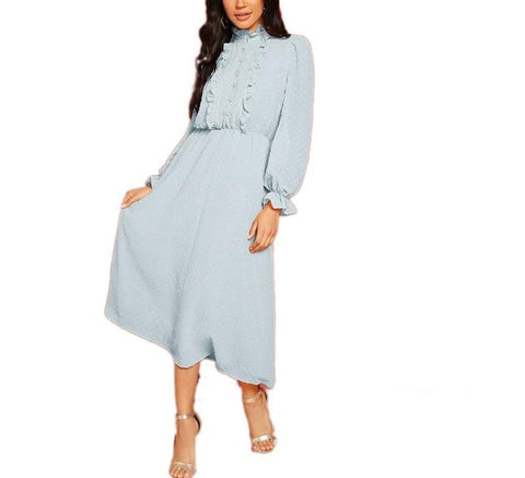 On Second Thought: The Markle Lantern Sleeve Front Jacquard Midi Dress