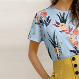 On Second Thought: Floral Half Sleeve Tee
