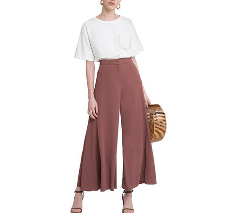 On Second Thought: High Waist Palazzo Pants