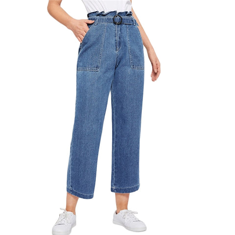 On Second Thought: High Waist Mom Denim with Shirred Waist