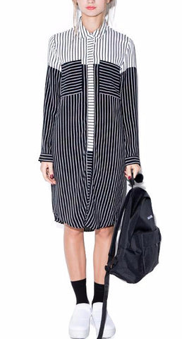 On Second Thought: Striped Contrast Block Dress