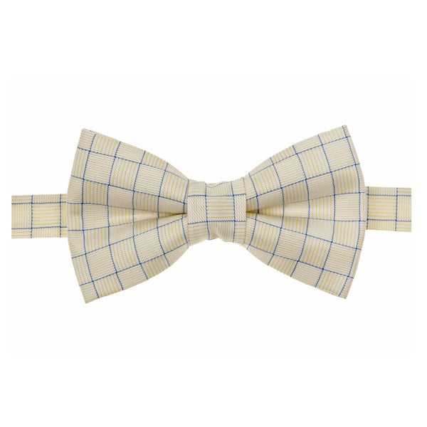 Cream Pinstriped Bowtie