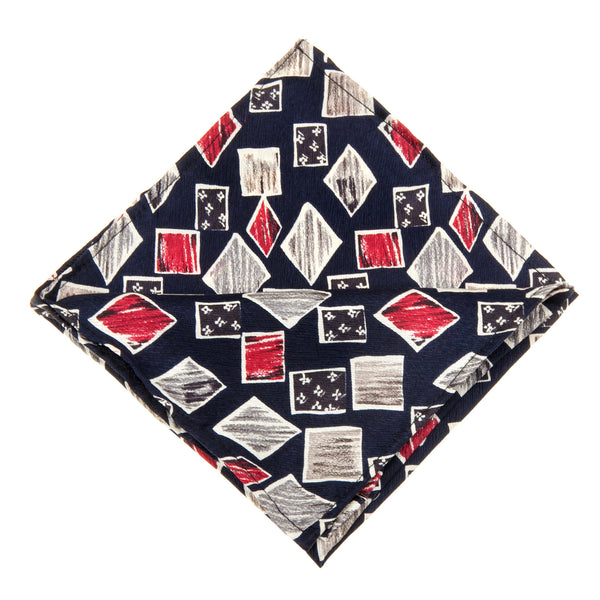 Vintage Geo-Print Pocket Square