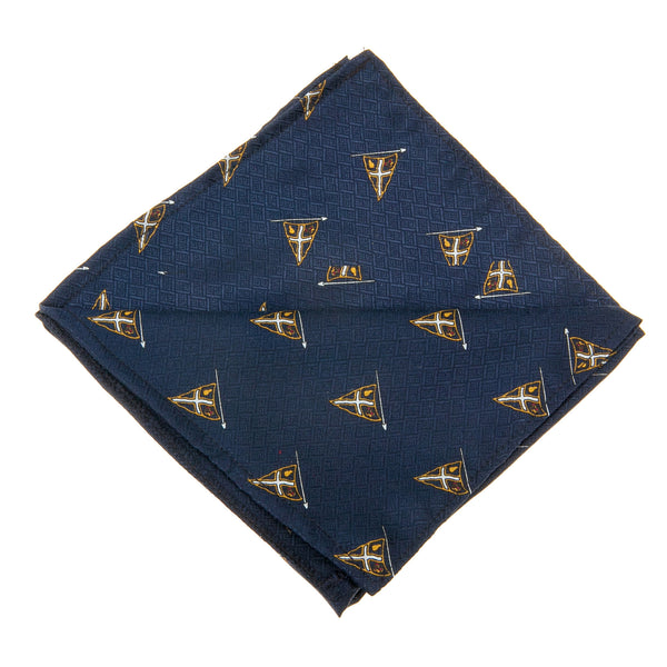 Marin Pocket Square Blue