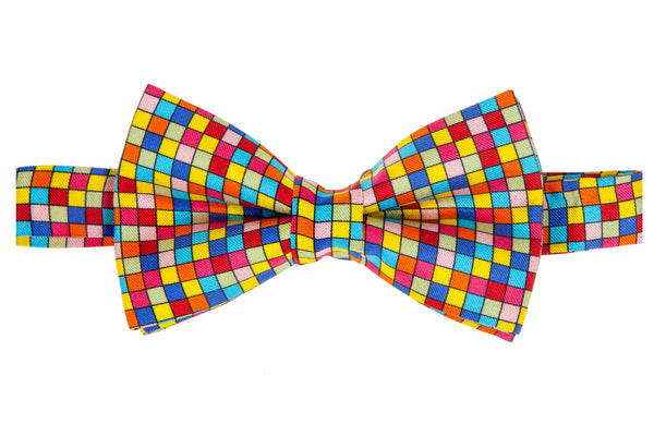 Geoprints Squared Bow Tie