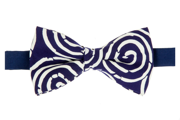 Geoprints Spiral Bow Tie