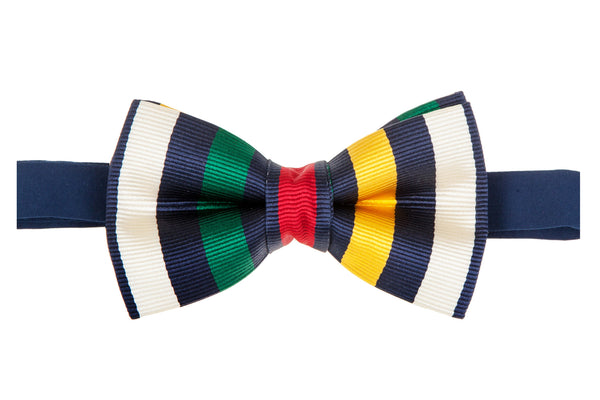 Multi-Coloured Stripe Bow Tie