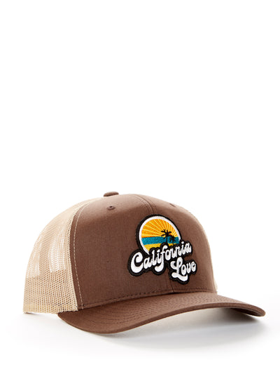 Retro - California Love - Brown and Beige Baseball Hat