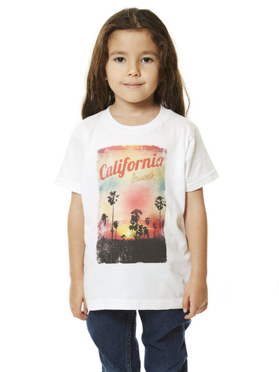 Kids - California Sunset - Cool Classic - White T-shirt