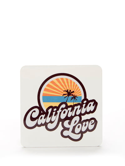 California Love  -  Cork Coaster