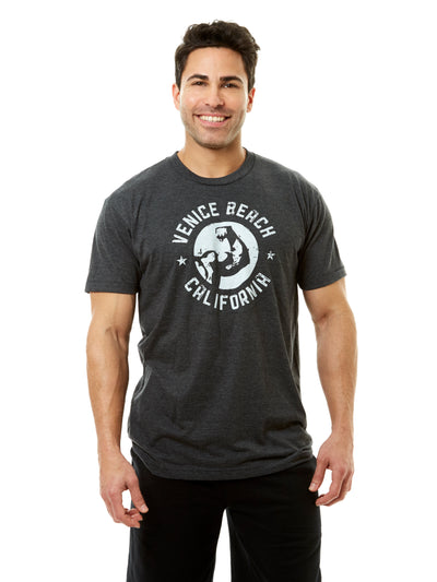 Men's - Muscle Beach - Venice Beach - California - Black T-shirt