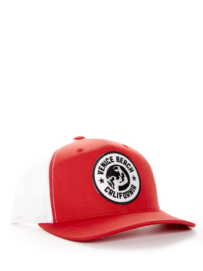 Muscle Beach - Venice Beach - California - Red and White Baseball Hat