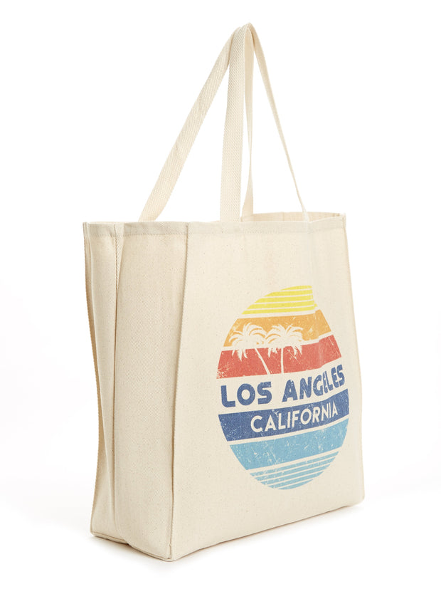 Los Angeles - California  - Circle - Tote Bag