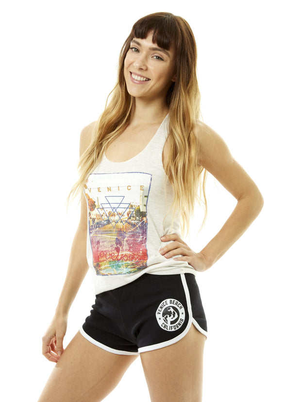 Women's - Muscle Beach - Venice Beach - California - Black Running Shorts