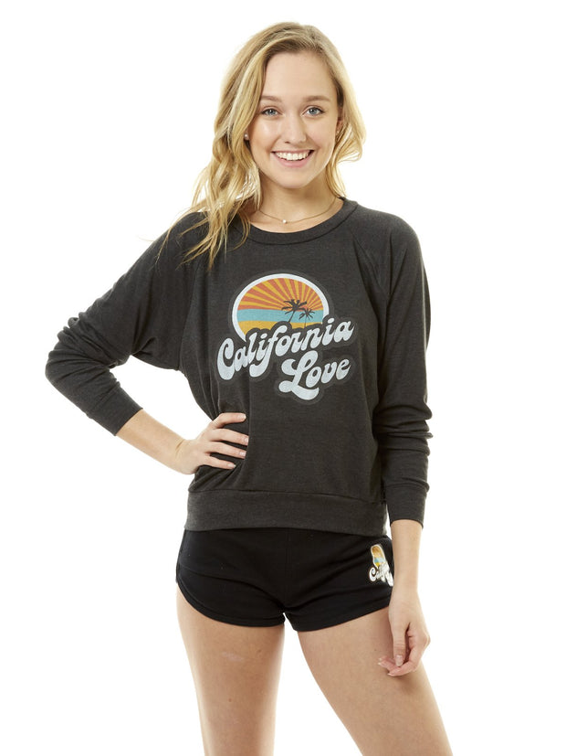 Women's - Retro - California Love - Black - Raglan