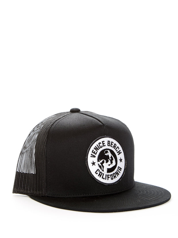 Muscle Beach - Venice Beach - California - Black Baseball Hat
