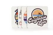California - Los Angeles - Venice Beach - VW Bus - Assorted Coaster 4 Pack