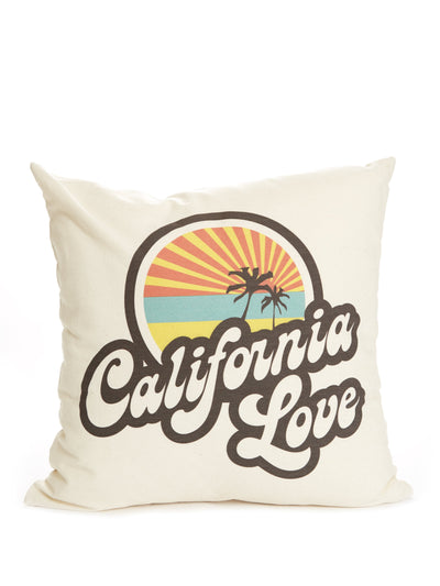 Retro - California Love - Beige Pillow Case
