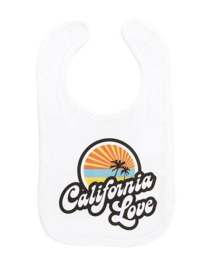 Infant's - Retro - California Love - White Bib