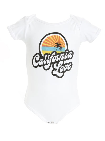 Infant's - Retro - California Love - White Onesie
