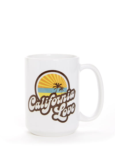 Retro - California Love - White Coffee Cup