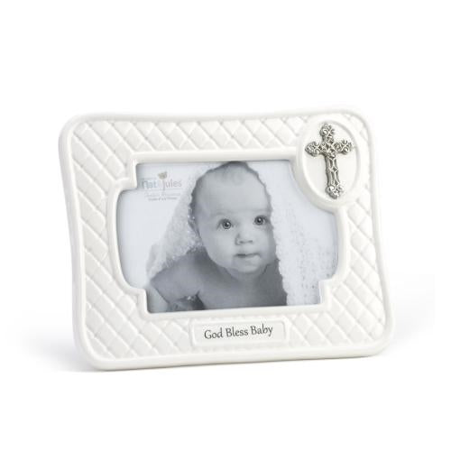 "God Bless Baby Frame 4""x 6"" - gigisbabyboutique"