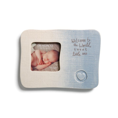 Blue Welcome To the World Frame - gigisbabyboutique