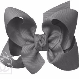 *Hair Bow - Grosgrain double Knot Bow with Clip - Large
