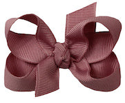 *Hair Bow - Grosgrain double Knot Bow with Clip - Small