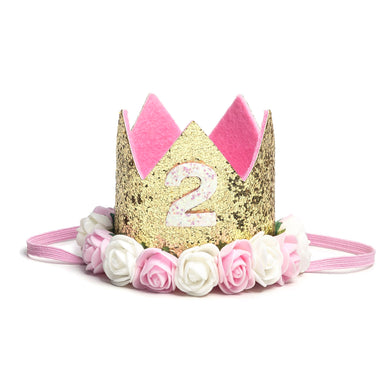 Sweet Wink Floral Birthday Crowns -2nd Birthday