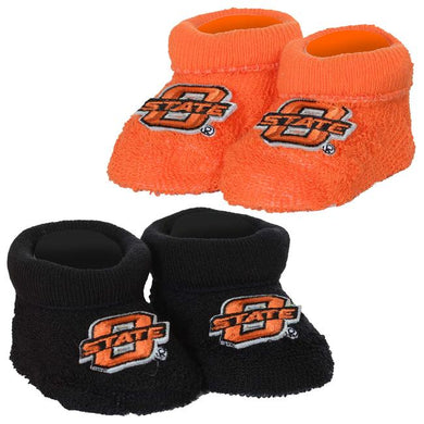 Oklahoma State Baby Bootie w/Applique - gigisbabyboutique