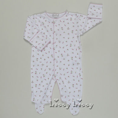 Kissy Kissy Garden Roses Print Footie - gigisbabyboutique
