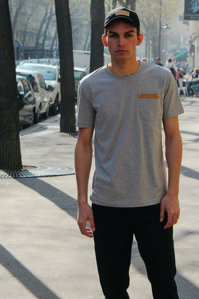 T-Shirt Pocket Biais - Gris