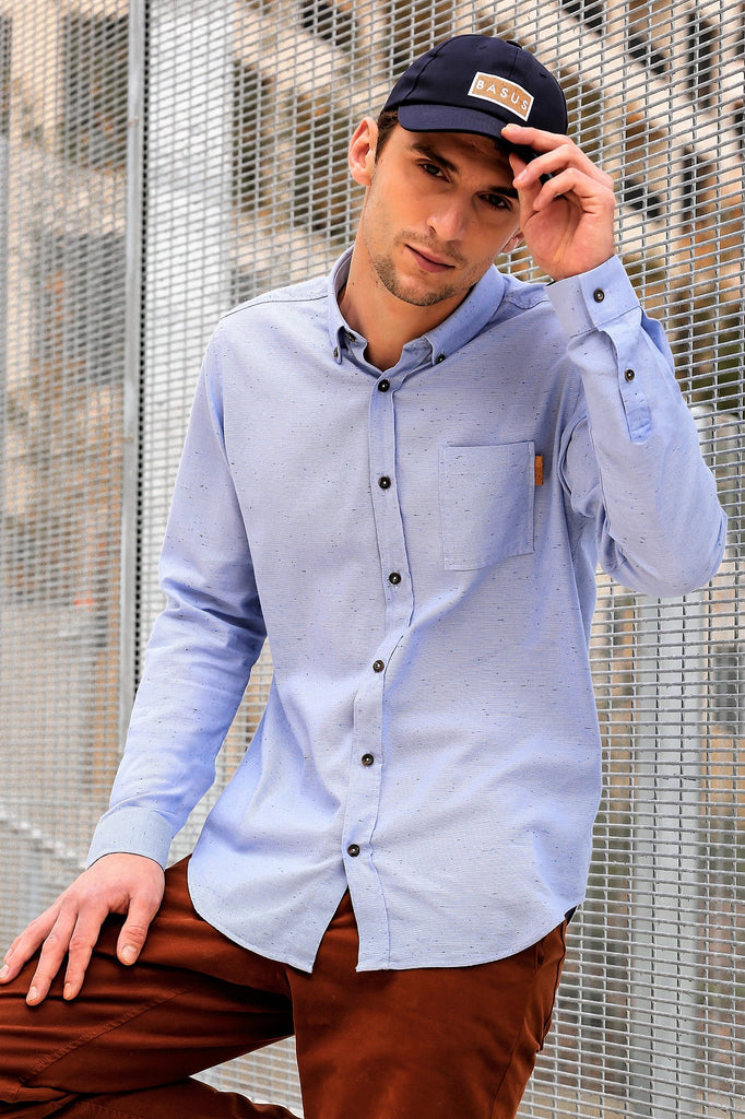 Chemise Spotted - Bleue