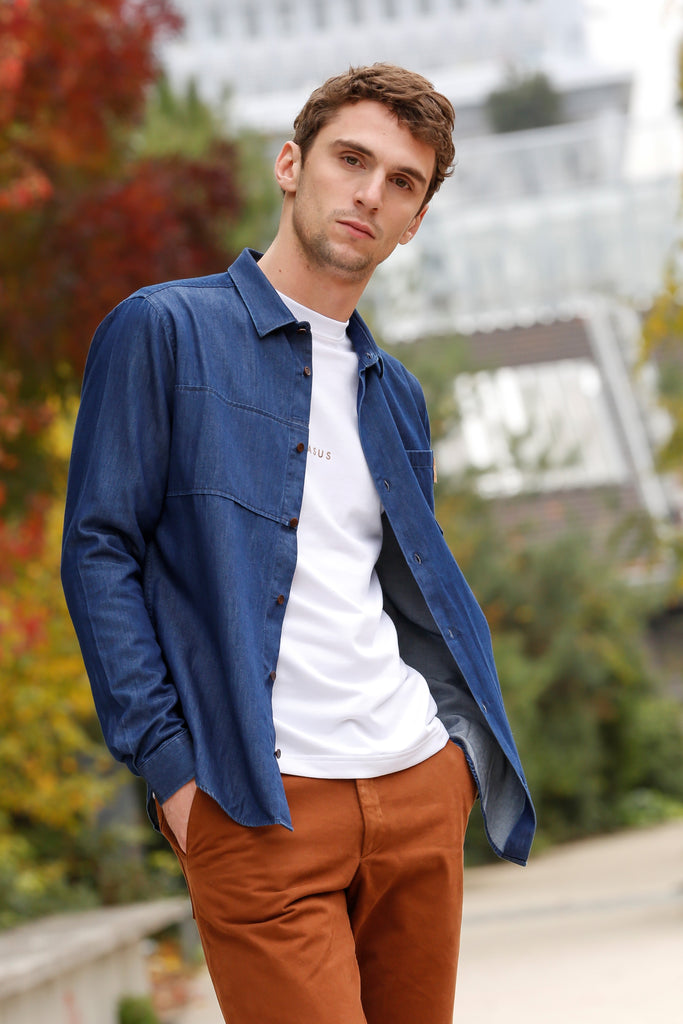 Chemise Yoke - Denim Light