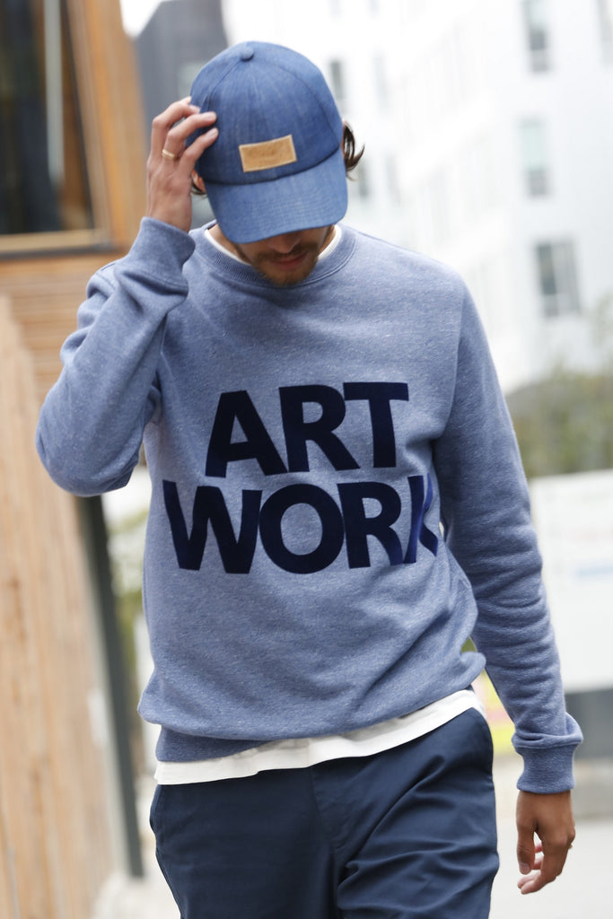 Sweat Art Work - Bleu