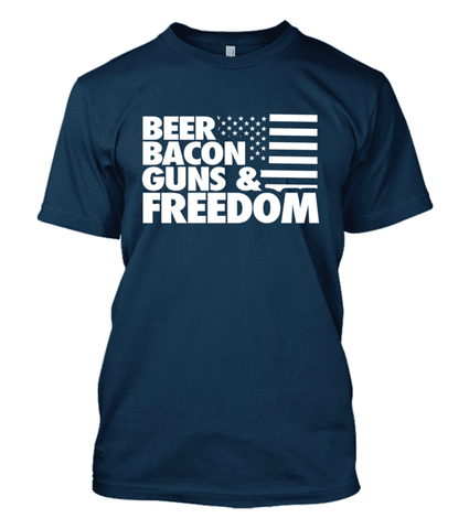 Beer Bacon Guns Freedom Shirt