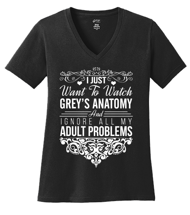 I Just Want To Watch Grey's Anatomy T-shirt