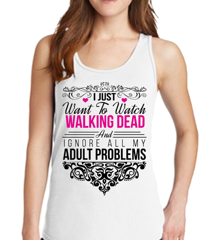 I Just Want To Watch Walking Dead Tank Top