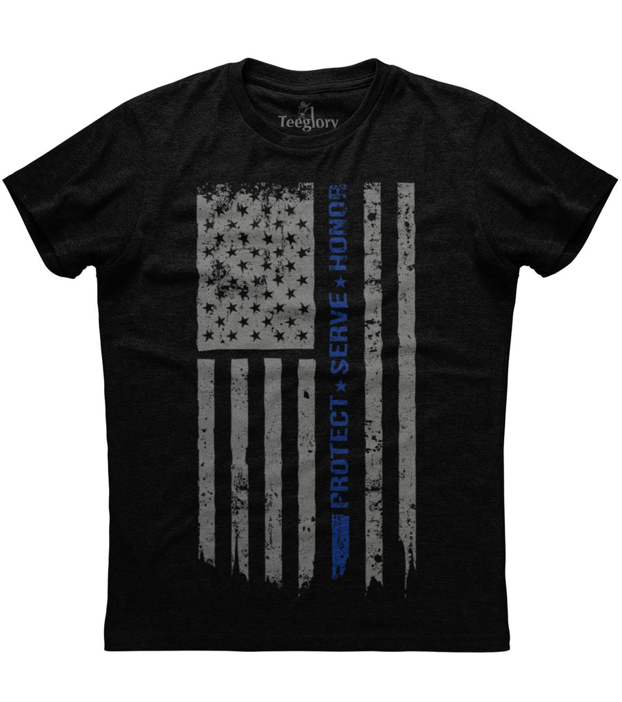 Back The Blue Protect Serve Honor T-shirt