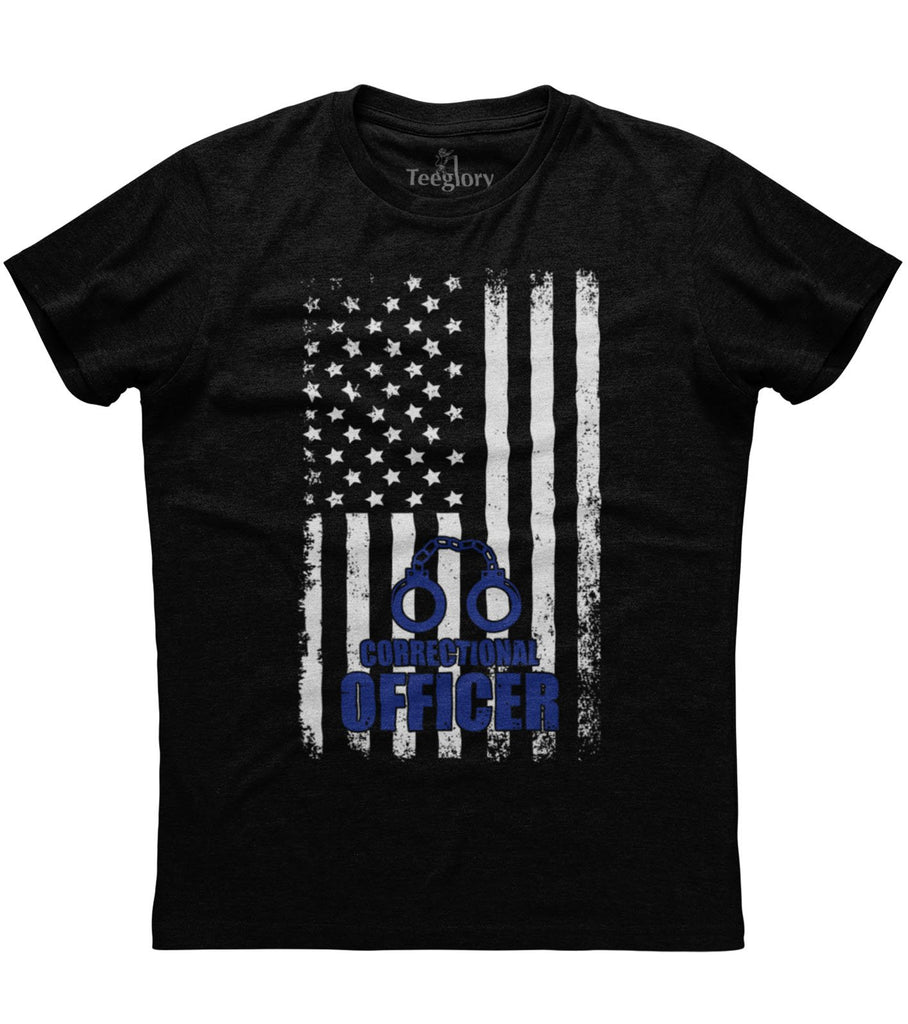 Correctional Officer Flag T-shirt