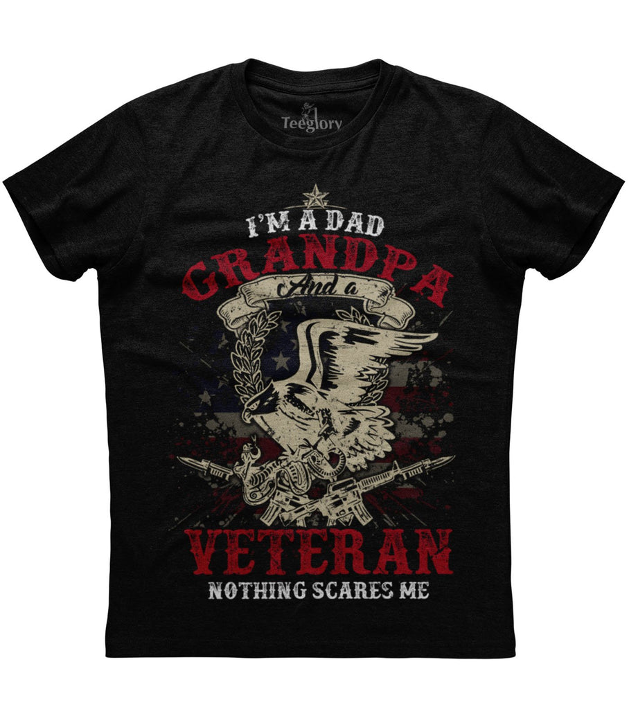 I Am A Dad Grandpa And A Veteran T-shirt