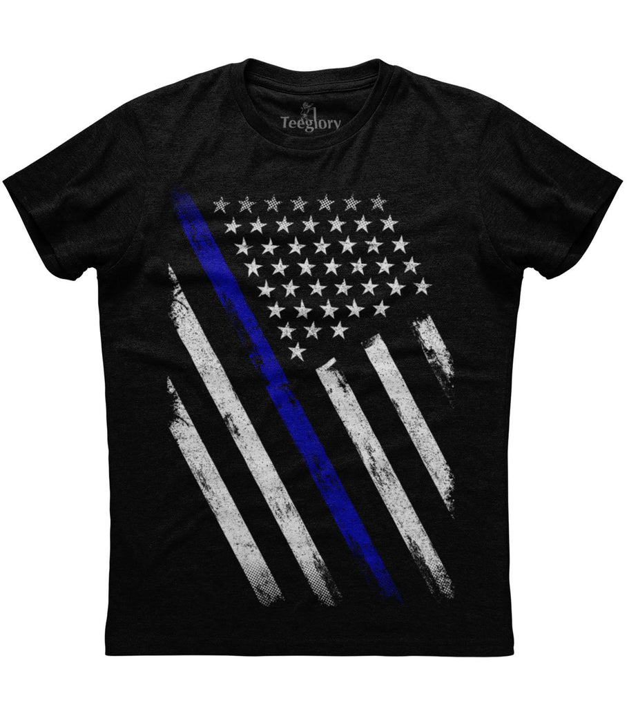 The American Flag Blue Line Patriotic T-shirt
