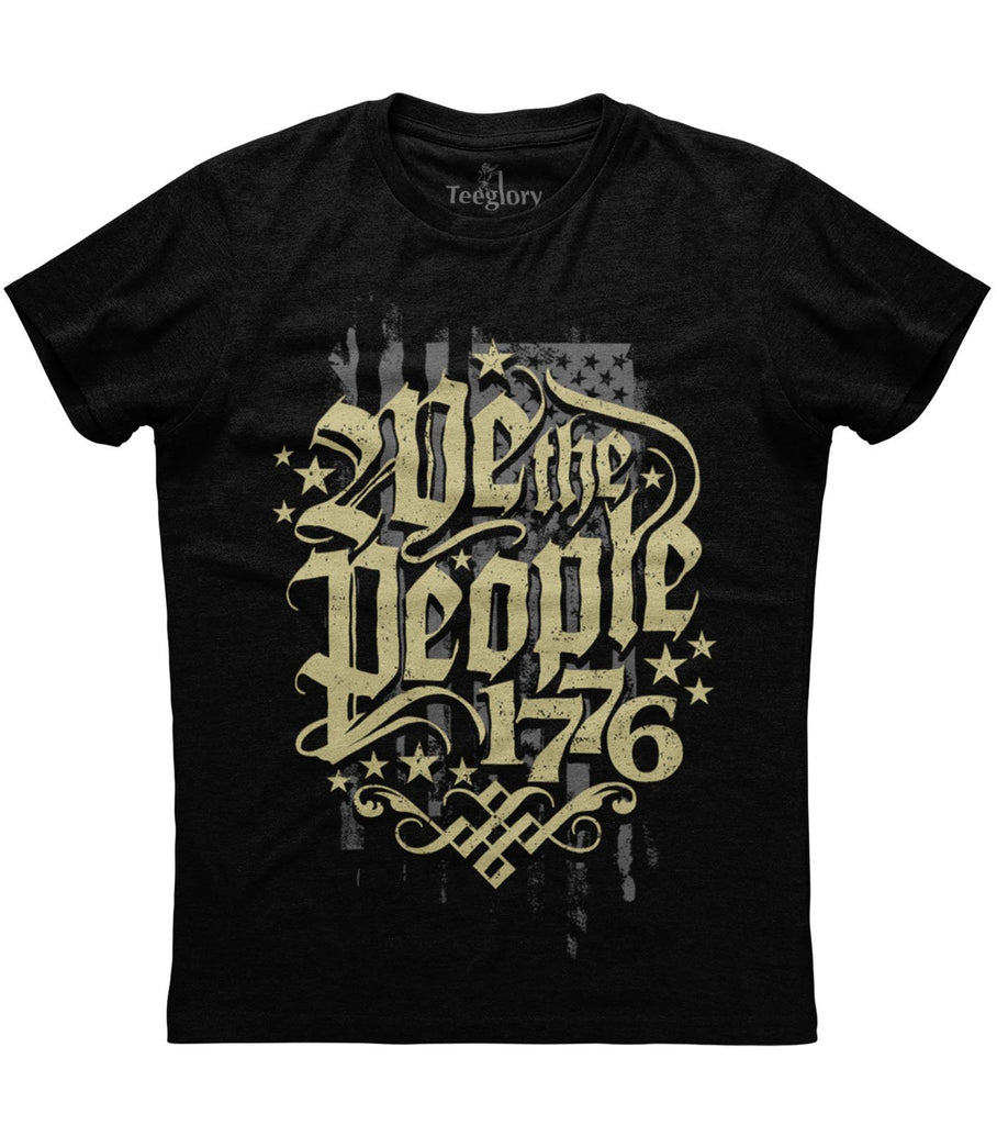 We The People 1776 BW T-shirt